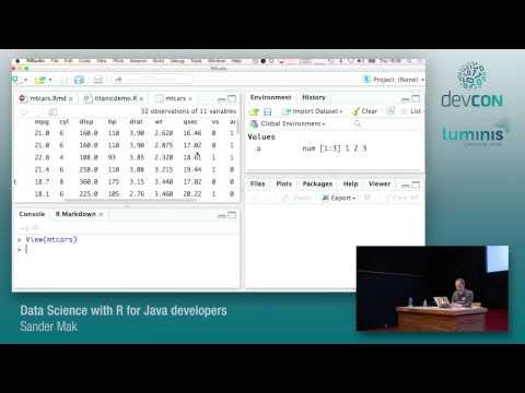 Data Science with R for Java developers - Sander Mak [Luminis DevCon 2015]