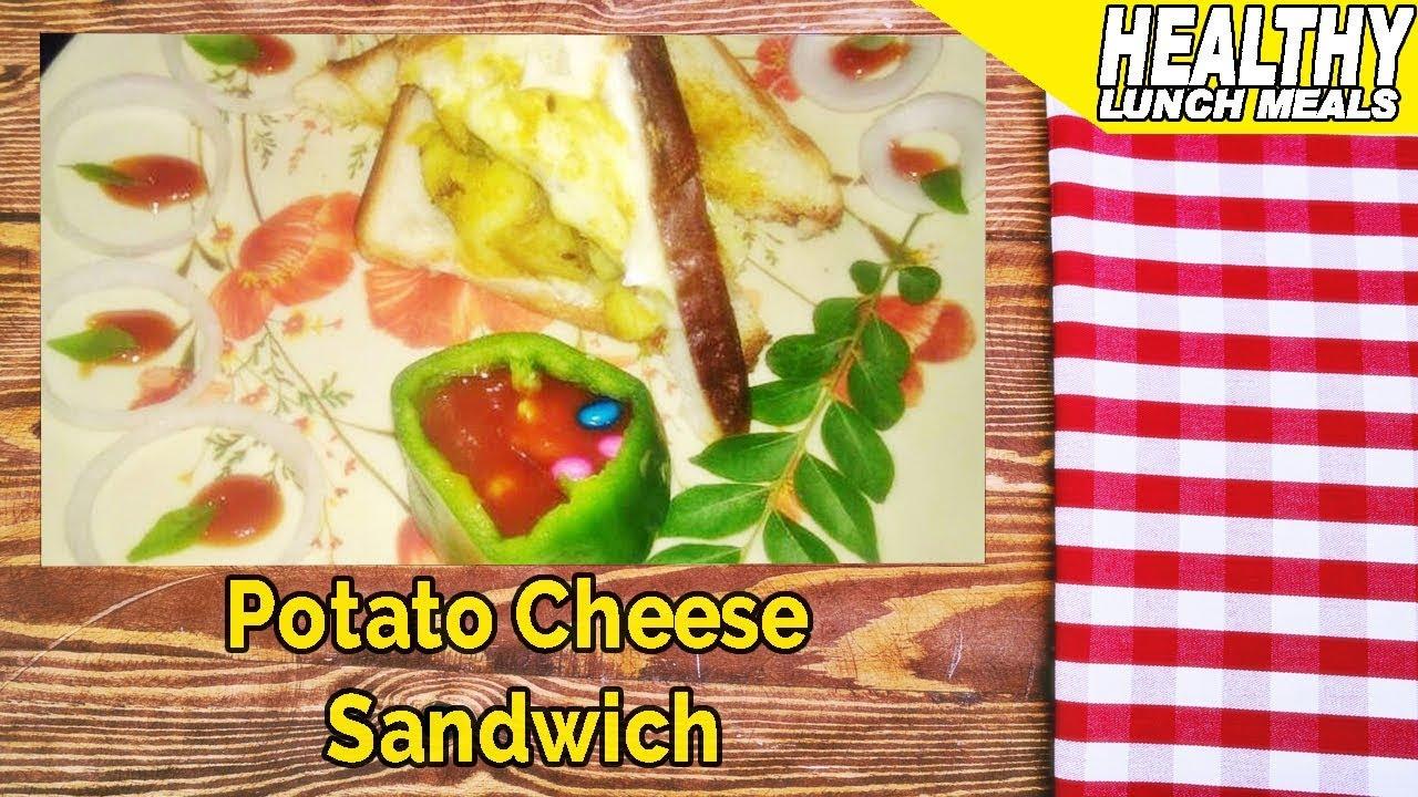Potato Cheese Sandwich   Light Lunch Ideas