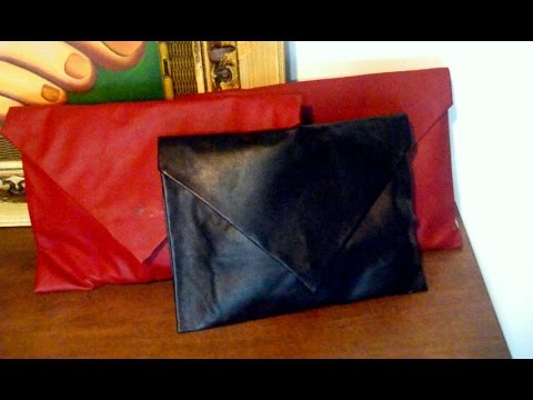 6681879cfdb10 DIY - bolsa envelope sem costura - YouTube
