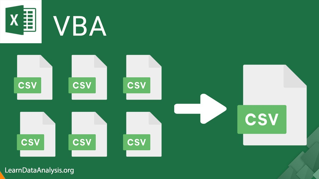How to write an Excel macro to combine CSV files (Using Excel VBA)