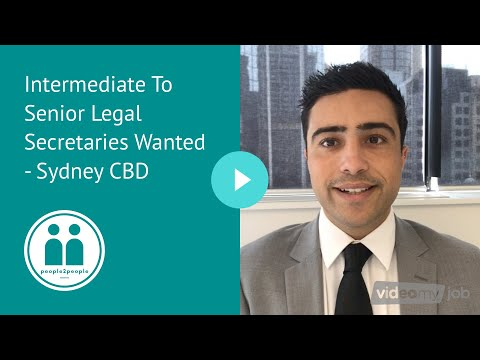 Intermediate To Senior Legal Secretaries Wanted - Sydney CBD