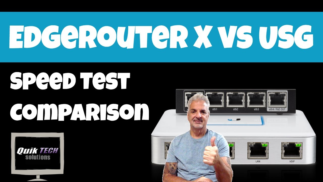 EdgeRouter X vs USG Speed Test