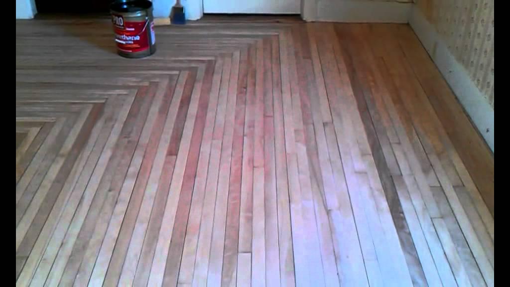 Maple Hardwood Floor Refinish Youtube
