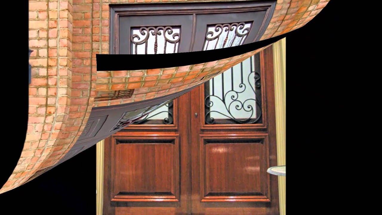 Puertas residenciales youtube for Puertas de madera en concepcion