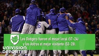 La Serie Mundial 2017 está lista: Dodgers y Astros van a un duelo inédito