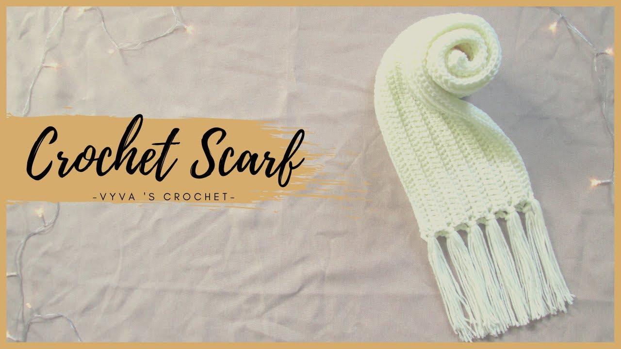 Crochet Scarf | Hướng dẫn móc khăn choàng họa tiết mũi giả đan