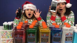 SIRI PICKS MY CHRISTMAS SLIME INGREDIENTS