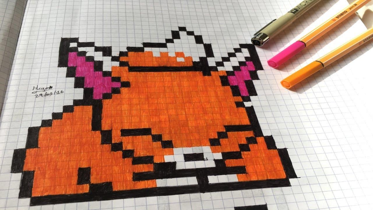 Dessin Pixel Art Renard Mignon