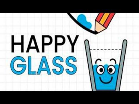 Happy Glass Довольный Стакан #1 Не пролей воду Мимо (уровни 1-30)