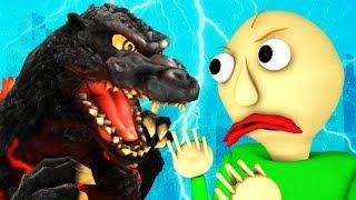 БАЛДИ vs ГОДЗИЛЛА (Король монстров драка 3D анимация)