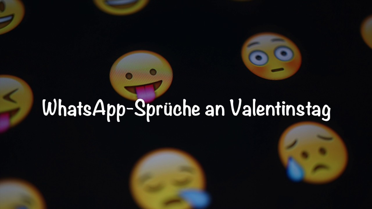 Die 6 Schonsten Whatsapp Spruche Fur Valentinstag Youtube