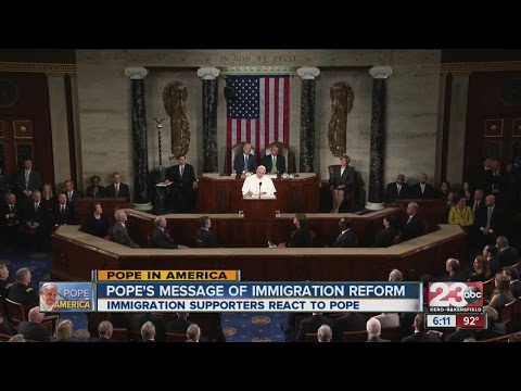 Pope Francis asks U.S. to push immigration reform