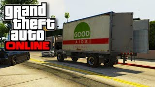 "GTA 5 Online - How To Open the back of the ""MULE"" Moving Truck! - Perfect Getaway Vehicle! (GTA V)"