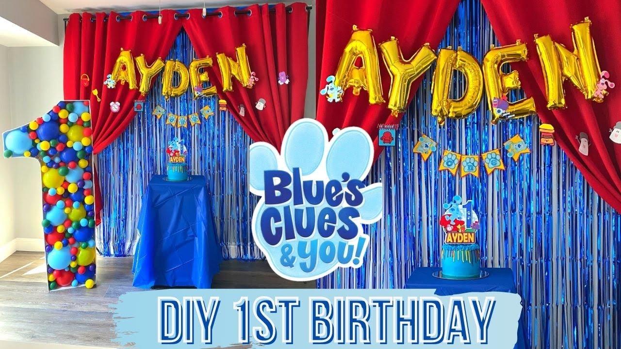 Diy Blues Clues Birthday Party Full Setup 1st Birthday Ideas 2020 Youtube