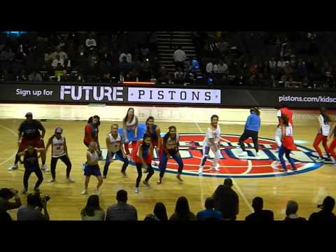 Detroit Pistons Mob Squad Dance Team first performance of 2013/14 season!