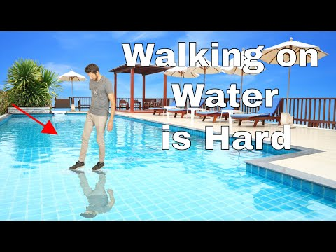 Why Is It So Difficult To Walk On Water? Amazing Water-Tension Experiment
