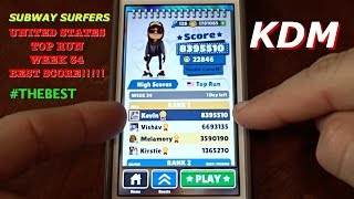 Best Score on Subway Surfers Top Run Week 34 Contest!