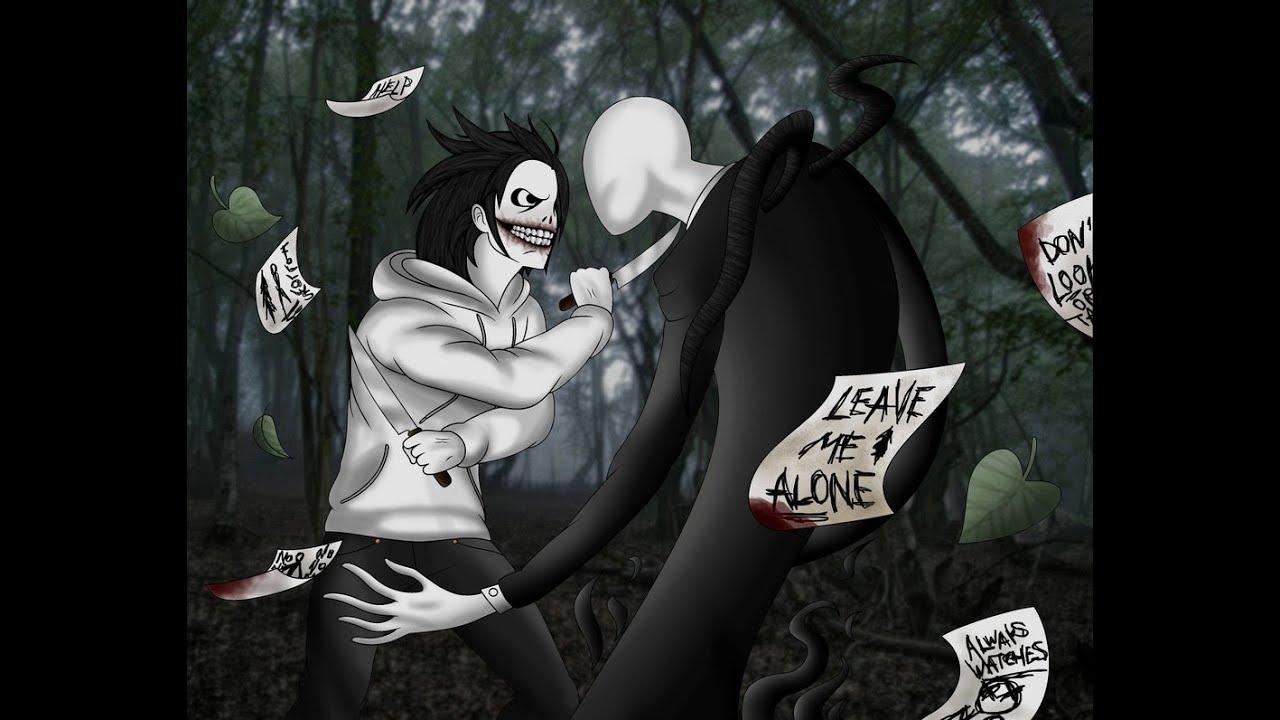 Slenderman v s Jeff the Killer dibujo  Dibuja David  YouTube
