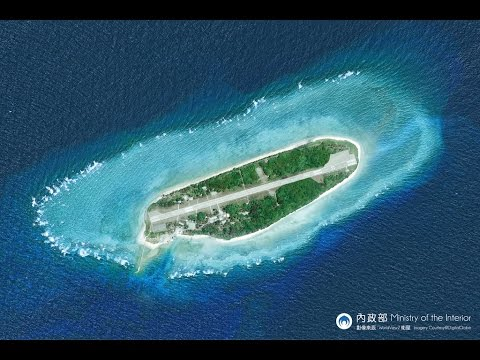Taiping Island in the South China Sea