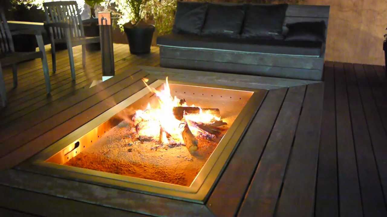 mobex outdoor table feu ou firepit mobilier ext rieur