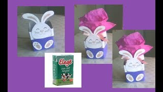 Ideias para páscoa com caixa de leite fácil