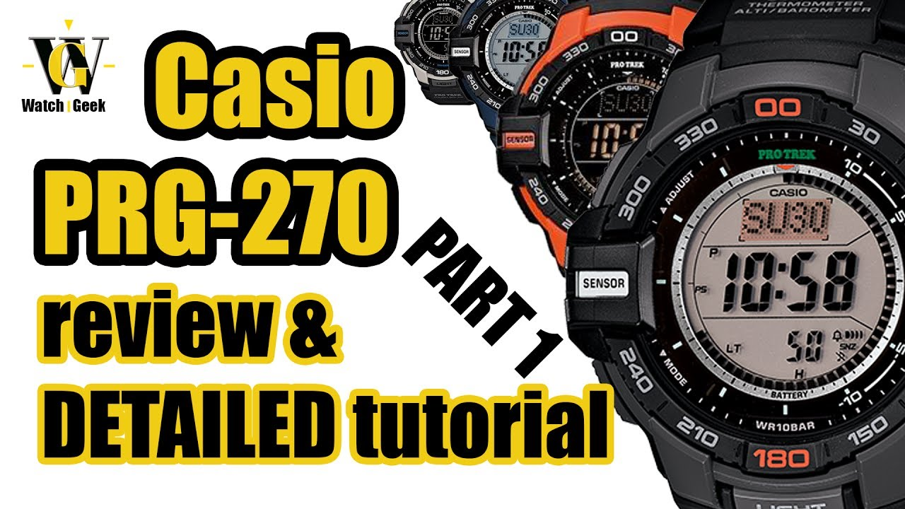 11d5e821d11 Casio PRG 270 - module 3415 - review and a detailed tutorial on how to  setup and use all functions