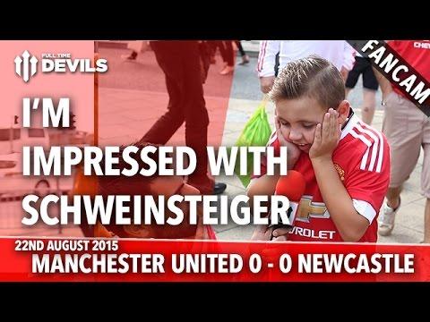 Impressed With Schweinsteiger - Manchester United 0-0 Newcastle United - FANCAM - 동영상