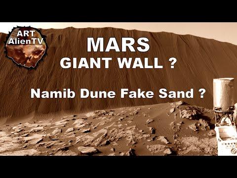 MARS GIANT WALL ? Namib Dune Fake Sand ? ArtAlienTV - 1080p60