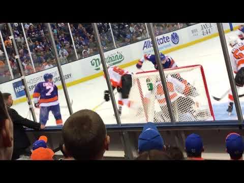9/17/17 Islanders at Flyers Nassau Coliseum John Tavares First Goal