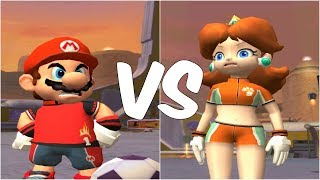 Super Mario Strikers - Mario vs Daisy - GameCube Gameplay (720p60fps)