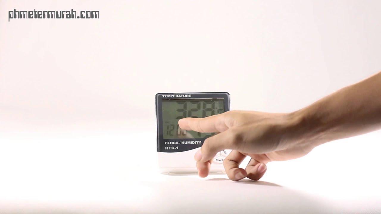 Cara Penggunaan Htc 1 Thermometer Hygrometer Youtube