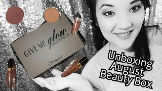 Unboxing Give Me Glow Cosmetics Beauty Box!