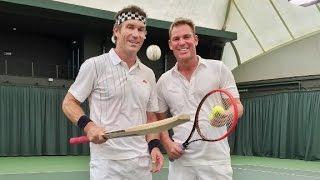 Can Shane Warne play tennis?