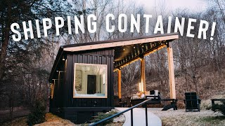 *cozy* Shipping Container Airbnb Full Tour! | The Lily Pad
