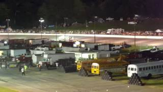 caraway speedway night of destruction awesome trailer race 8/6/16
