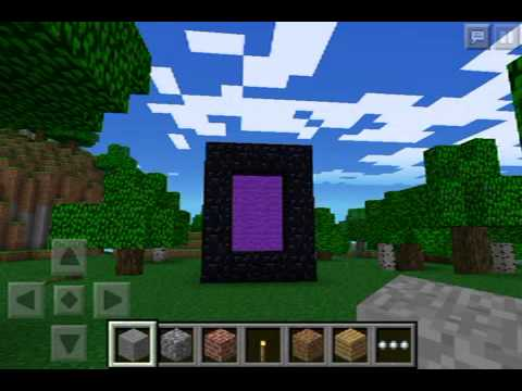 how to create a end portal in minecraft pe