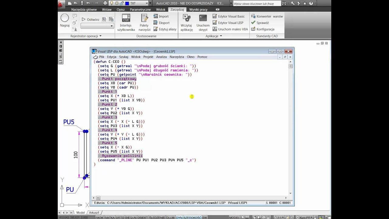Od A do Z AutoCAD Automatyzacja – AutoLISP Visual LISP – REAKTYWACJA