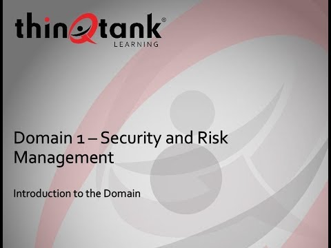 thinQtank Learning Training Camp - ISC2 CISSP (Introduction to Domain 1)