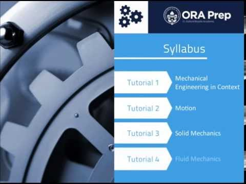 An Introduction to Mechanical Engineering: Online Course