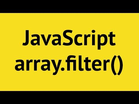 JavaScript Array Filter - YouTube