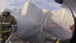 Большой пожар за 4 минуты