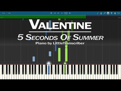 Hd 5sos Valentine Piano Cover Dailymotion Video