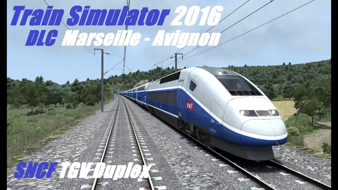 train simulator 2016 lgv marseille avignon tgv duplex youtube. Black Bedroom Furniture Sets. Home Design Ideas