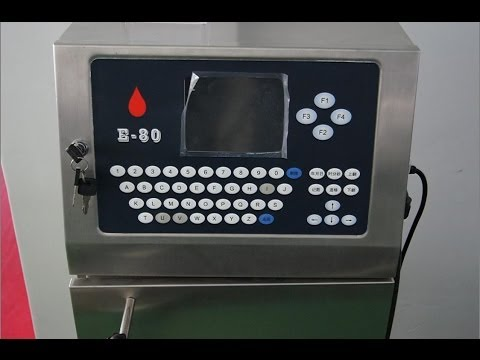 ink injet printer machine automatic with conveyor belt PLC computer controlling system
