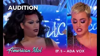 Ada Vox: Katy Perry STUNNED By Drag Queen Audition! | American Idol 2018