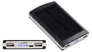 Powerbank 50000mAh Solar Battery Review & Take Apart