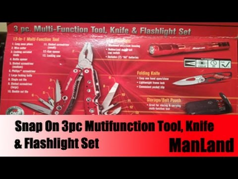 Manland - Snap On 3pc Multifunction Tool Set