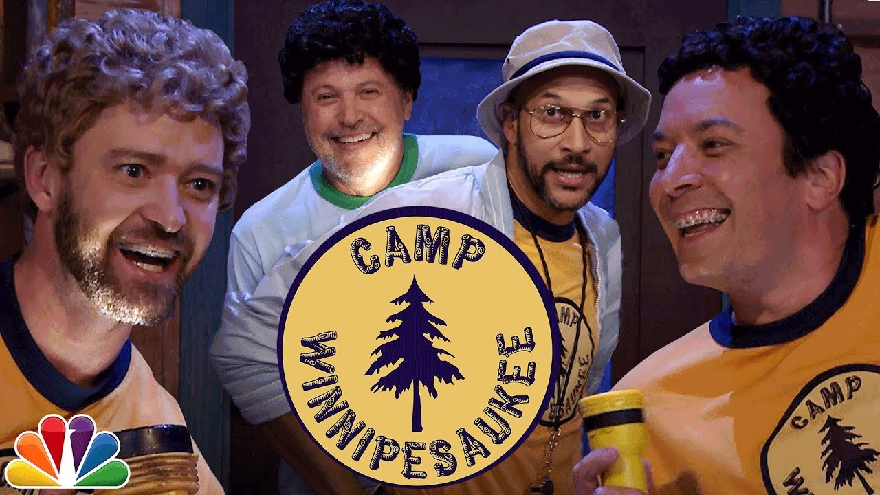 Hootie And The Blowfish likewise Star Tracks Wednesday August 9 2017 in addition Justin Timberlake En Jimmy Fallon Gaan Samen Op K in addition Wow justin timberlake and jimmy fallon almost sang a whole song additionally Scrumptious Smores Frozen Yogurt. on jimmy fallon camp winnipesaukee