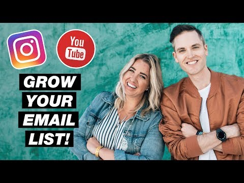 Tips for Building Your Email List with Instagram and YouTube
