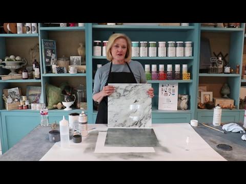 DIY Faux Marble Backsplash